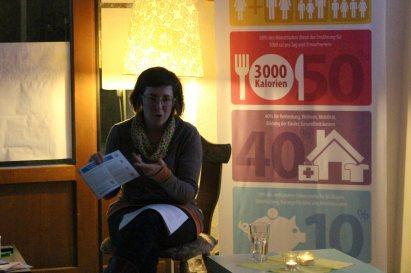 Anna Grasemann von der Kampagne für Saubere Kleidung (Femnet) bei uns zu Gast
